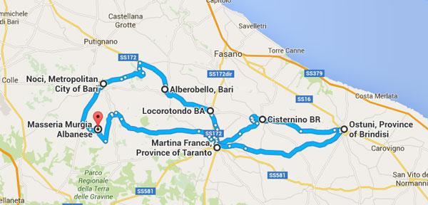 itinerario 1 - Noci - Alberobollo