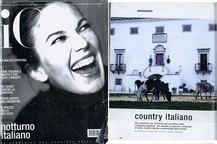 """IoDonna - Supplemento del Corriere della Sera """"Country Italiano"""""""